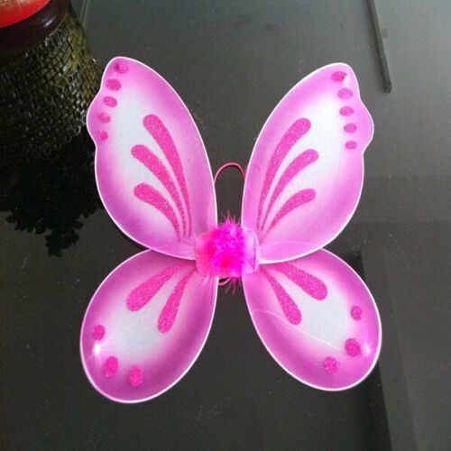"10Color Kids Girls Butterfly Fairy Wings Tinkerbell Pixie Party Costume 18/""x19/"""