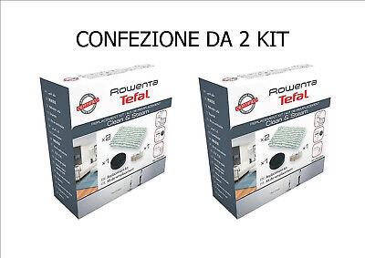 FILTRO ANTICALCARE 2X ROWENTA KIT 2 PANNI SPUGNA CLEAN /& STEAM RY7535 RY7557