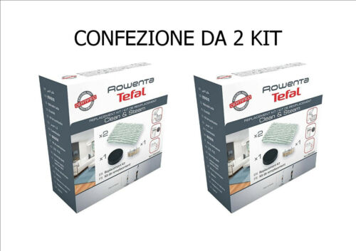FILTRO ANTICALCARE 2X ROWENTA KIT 2 PANNI SPUGNA CLEAN /& STEAM RY7535 RY7557