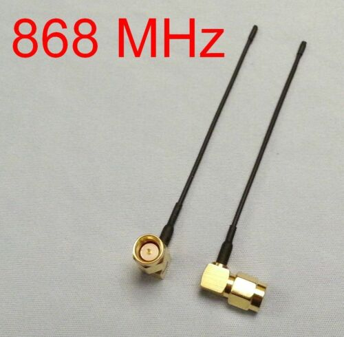 TX or RX 2x 868 MHz UHF tuned SMA antenna for TBS Crossfire FPV LRS telemetry