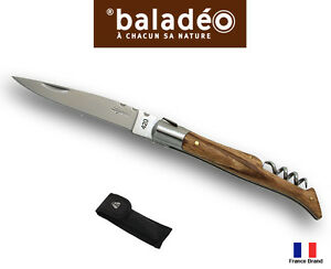 Baladeo Laguiole 120mm Zebra Wood Handle Corkscrew Knife