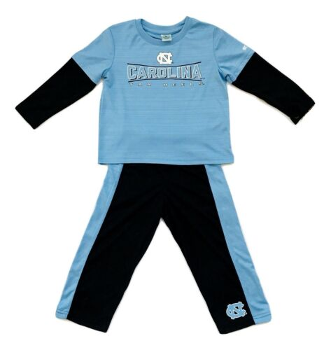 1X Colosseum UNC Tar Heels Logo 2 Piece Toddler 3//4 Sleeve Pant Set 3T