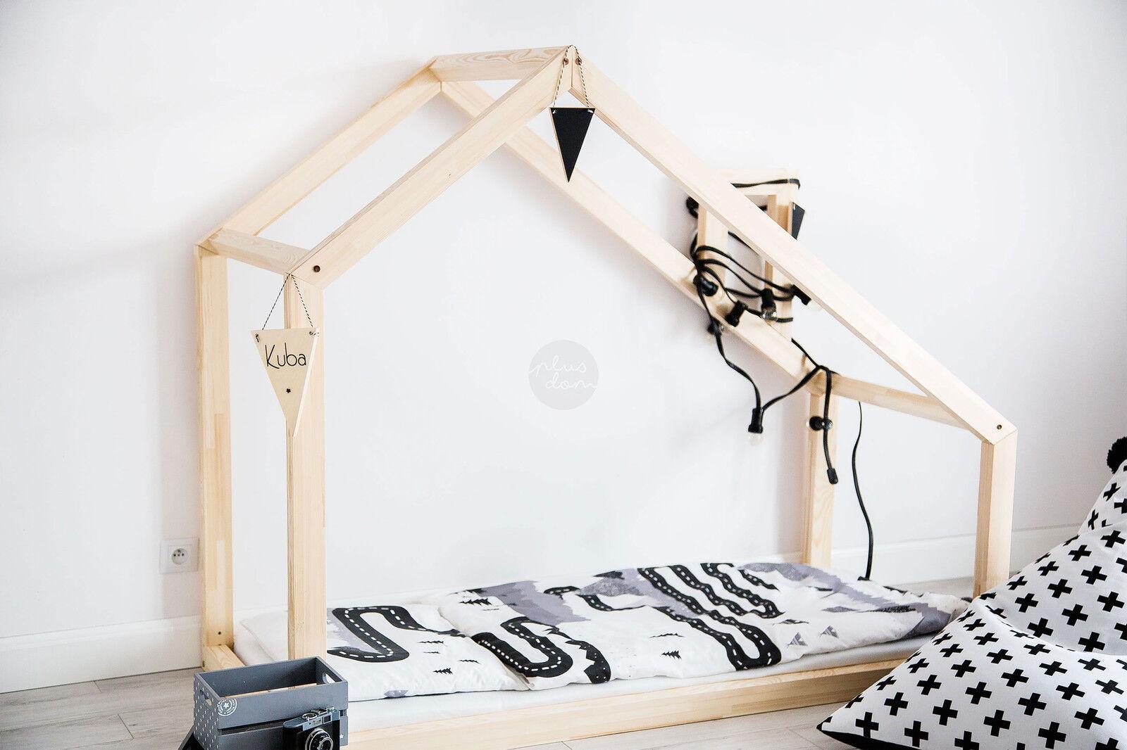 Lit enfant-Maison en bois Lit pour enfants Talo d3 100x190 cm