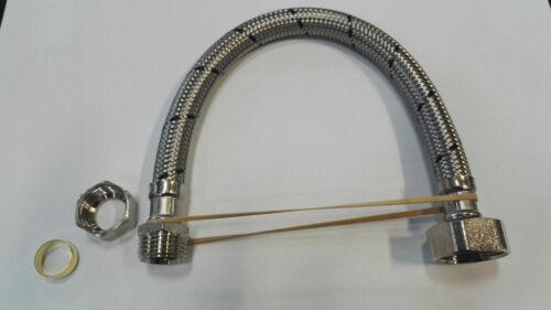 "22mmx3//4/""BSP 15mm x 3//4/"" 15mmx1//2/"" Flexible Tap Connectors 150mm to 900mm"