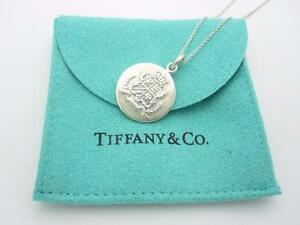 Rare tiffany co sterling silver family crest round pendant image is loading rare tiffany amp co sterling silver family crest audiocablefo Light gallery