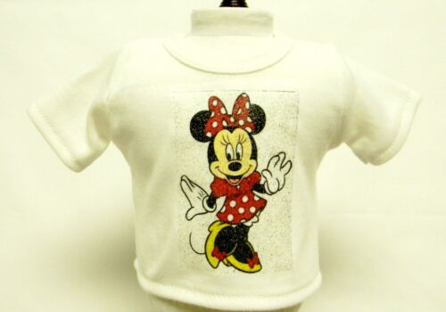 Minnie Mouse Theme Silver Glitter Transfer T-Shirt For 16 or 18 Inch Dolls