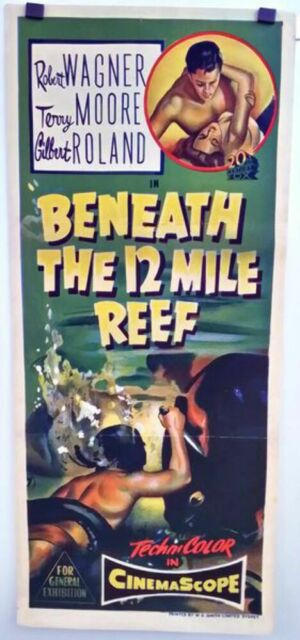Beneath the 12 Mile Reef, Robett Wanger, Terry Moore original daybill