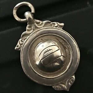 Silver Fob Sheild With Football in Centre  ref008