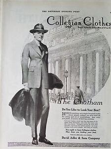1920 Vintage Collegian Clothes Mens The Chatham Suit Coat Fashion