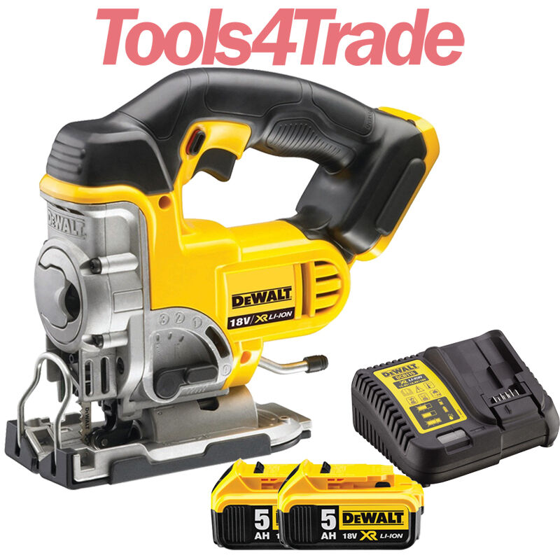 Dewalt DCS331N 18V XR Li-ion Cordless Jigsaw With 2 x 5.0Ah Batteries & Charger