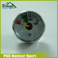 Paintball Air Co2 1500 Psi Micro Mini Gauge 1/8npt