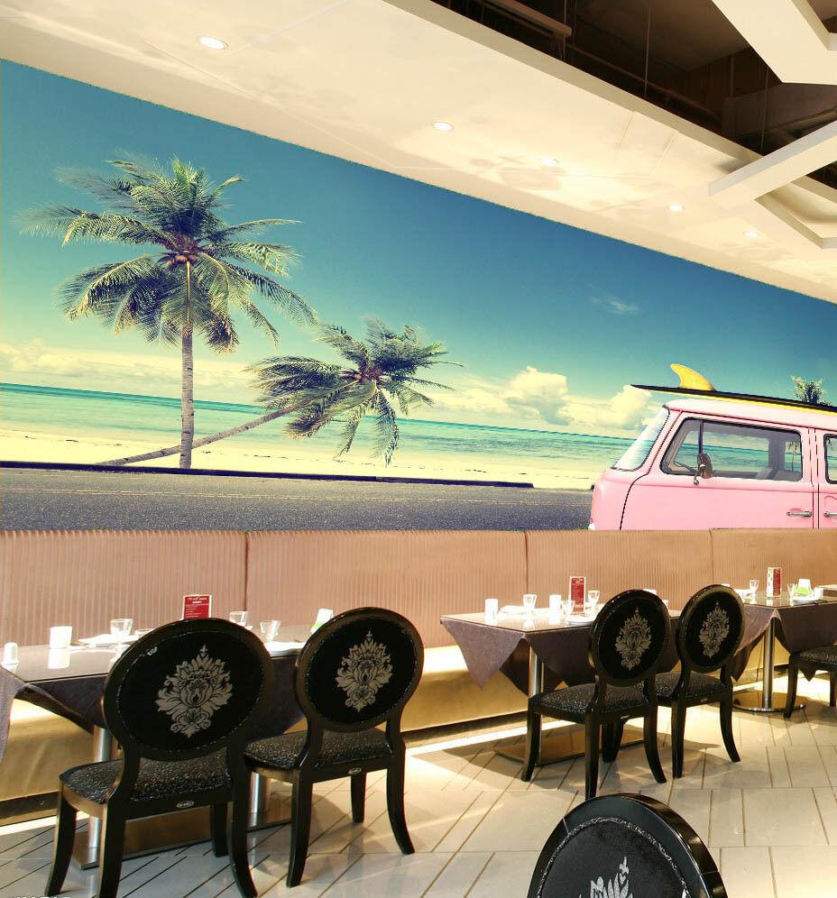 3D Sky Tree Car 862 Wallpaper Mural Paper Wall Print Wallpaper Murals UK Lemon