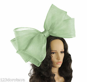 Image is loading Large-Mint-Green-Fascinator-Hat-for-Ascot-Weddings- 7a0346a6c06