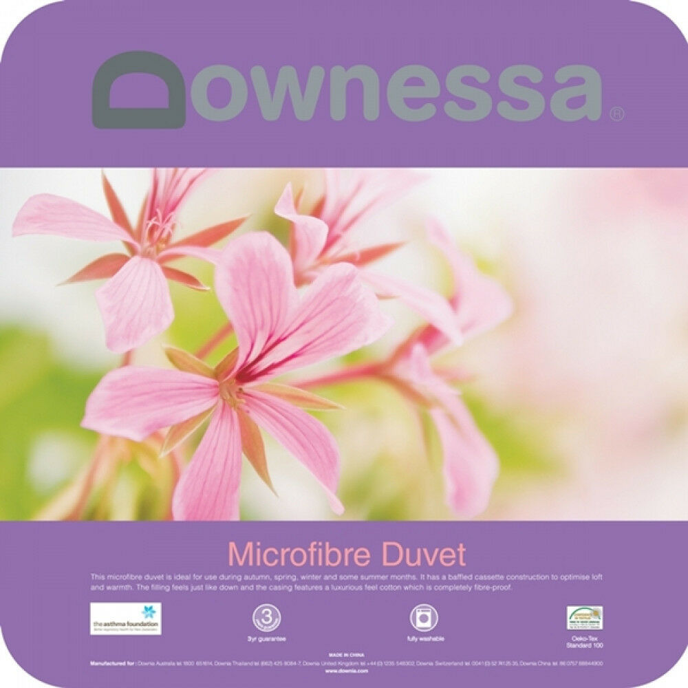 DOWNESSA Microfibre Quilt Cotton Cover Single   Double   Queen   King BRAND NEW