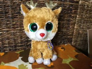 d9c38871f90 Image is loading TY-BeaNie-Boos-Alpine-Reindeer-Sparkle-Gold-Plush