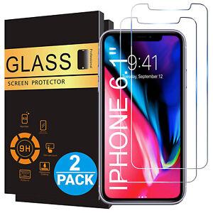 2x-Echt-Glas-Panzerfolie-fuer-iPhone-11-PRO-X-XR-XS-MAX-Display-Schutzfolie-9H