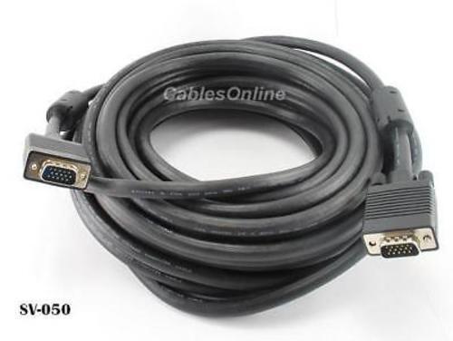 50ft Super VGA Monitor Cable Cord HD15 Male//Male SVGA