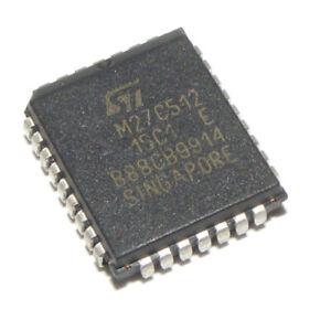 10-X-ST-M27C512-15C1-512-kbit-64-kbit-X-8-32-Plastico-con-plomo-OTP-EPROM-chip-portador-de-paquete