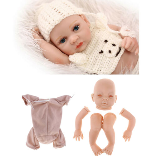 "22/""Reborn Kits Soft Silicone Head Full Limb Mold Baby Doll Mold /& Cloth Body"