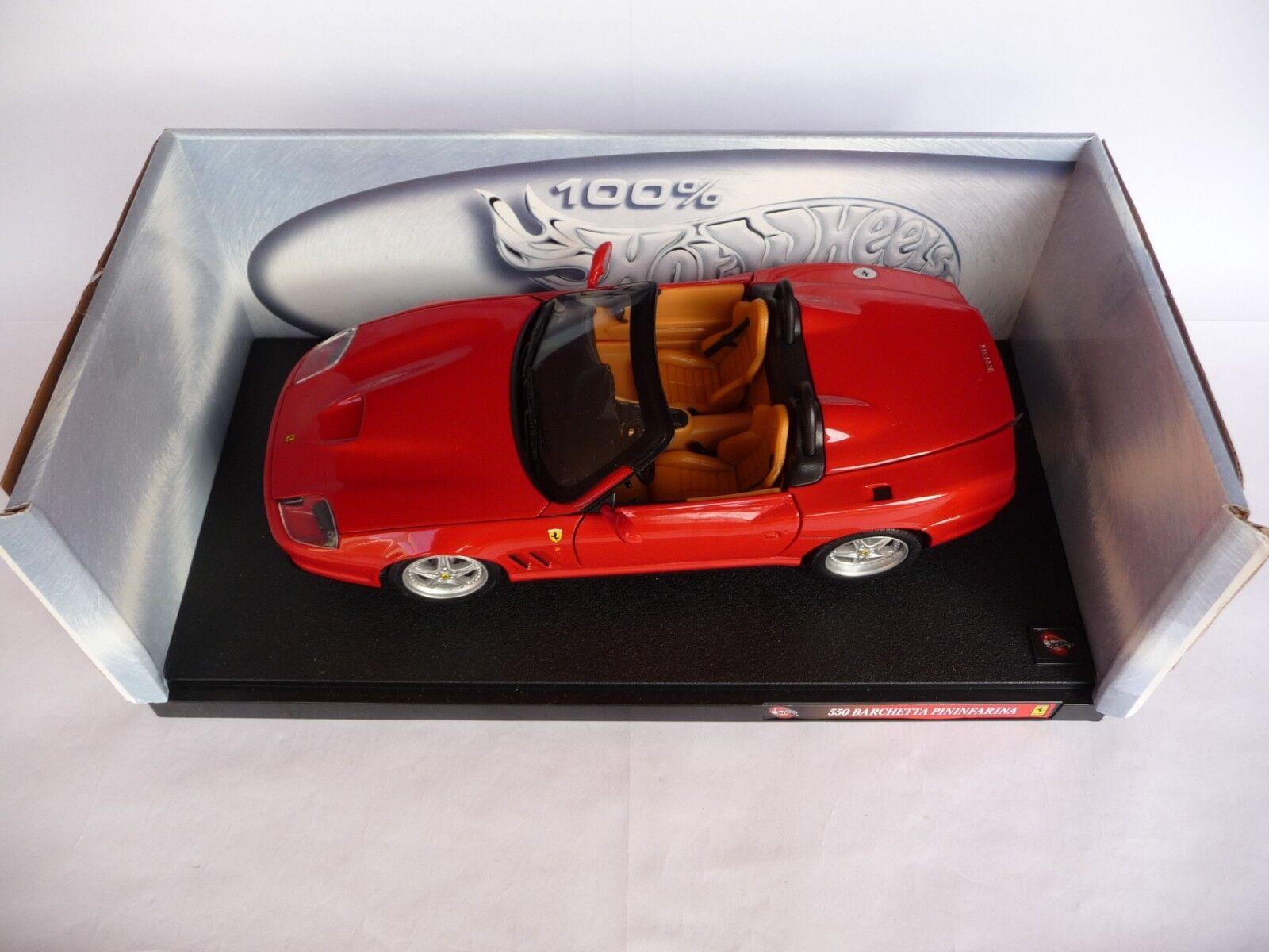 Hot Wheels 1 18 Ferrari 550 Barchetta Pininfarina MAT29441