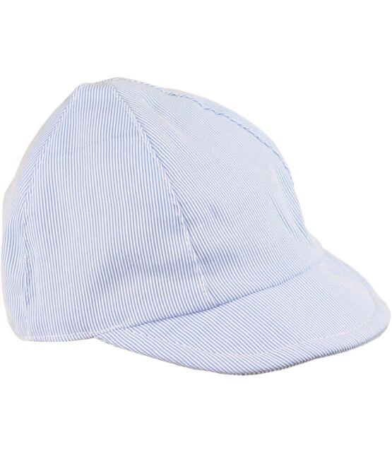 2960766e0 BabyPrem Baby Boys Sun Hats Blue & White Striped Beach Summer Cap NB 3 6 12  18m