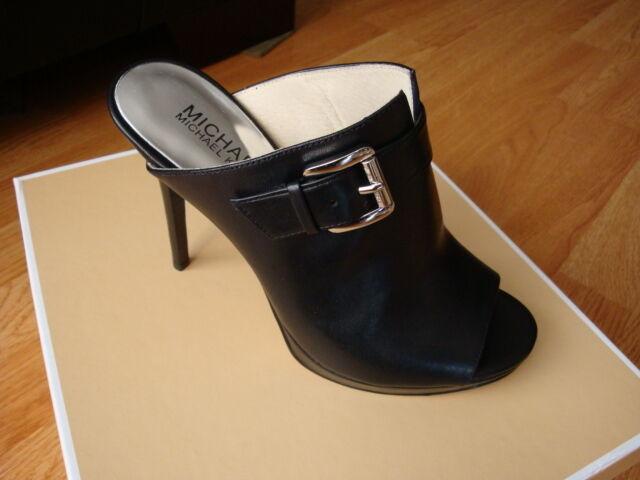 8649f2436402 Women Michael Kors Isabella Leather Mule Sandal Black Size 6 for ...