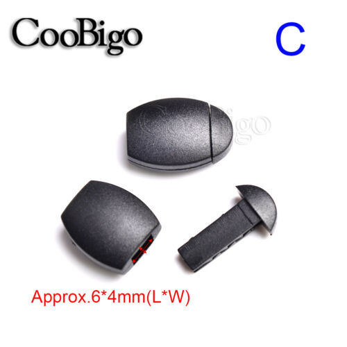 Plastic Cord Lock End Stopper Toggle Zipper Pull For Bags Garment Accessories