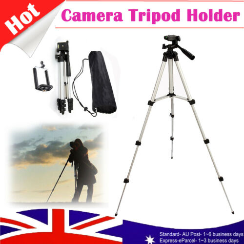 Pro Telescopic Camera Tripod Mount Stand Holder Phone Clip for iPhone Phones AU