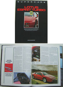 ESPRIT BOOK LOTUS YOUNGER TURBO BUYER/'S GUIDE