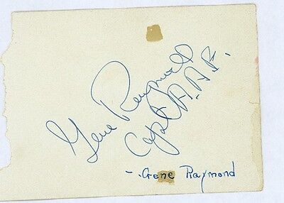 Sale Overall Discount 50-70% Cards & Papers Autographs-original Gene Raymond Vintage Signed Page From Autograph Book Also Signed Capt A.a.f