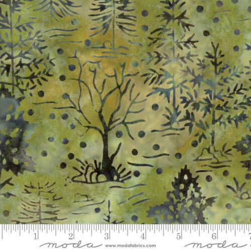 by the 1//2 yard MODA Fabric ~ BEAR CREEK BATIKS ~ Moss 4344 19