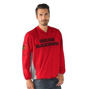 Chicago Blackhawks Pullover V-Neck Jacket NHL Mens G-III Sports Carl Banks