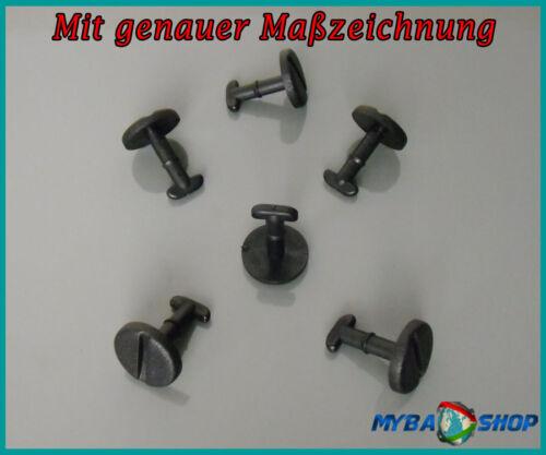 10x Fußmatten Drehverschluss Clips in Schwarz für BMW E39 E46 E8382119410191