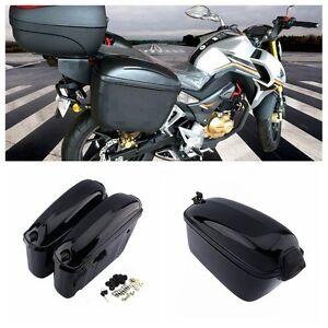 Bon Image Is Loading 1 Pair Motorcycle Hard Trunk Saddle Bag Box