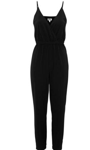 Le donne pagliaccetto Pantaloni Tuta Casual v Collo parte clubwear plus size 12 14 16