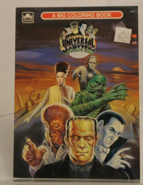 Universal Monsters A Big Coloring book Golden 2959 1991