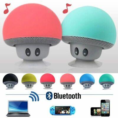 Waterproof Wireless Mini Bluetooth Mushroom Portable Stereo Speaker iPhone EN