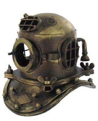 antique Deep Sea Scuba U.S Navy Mark V Diving Divers Helmet Brass 18G SCA Gift