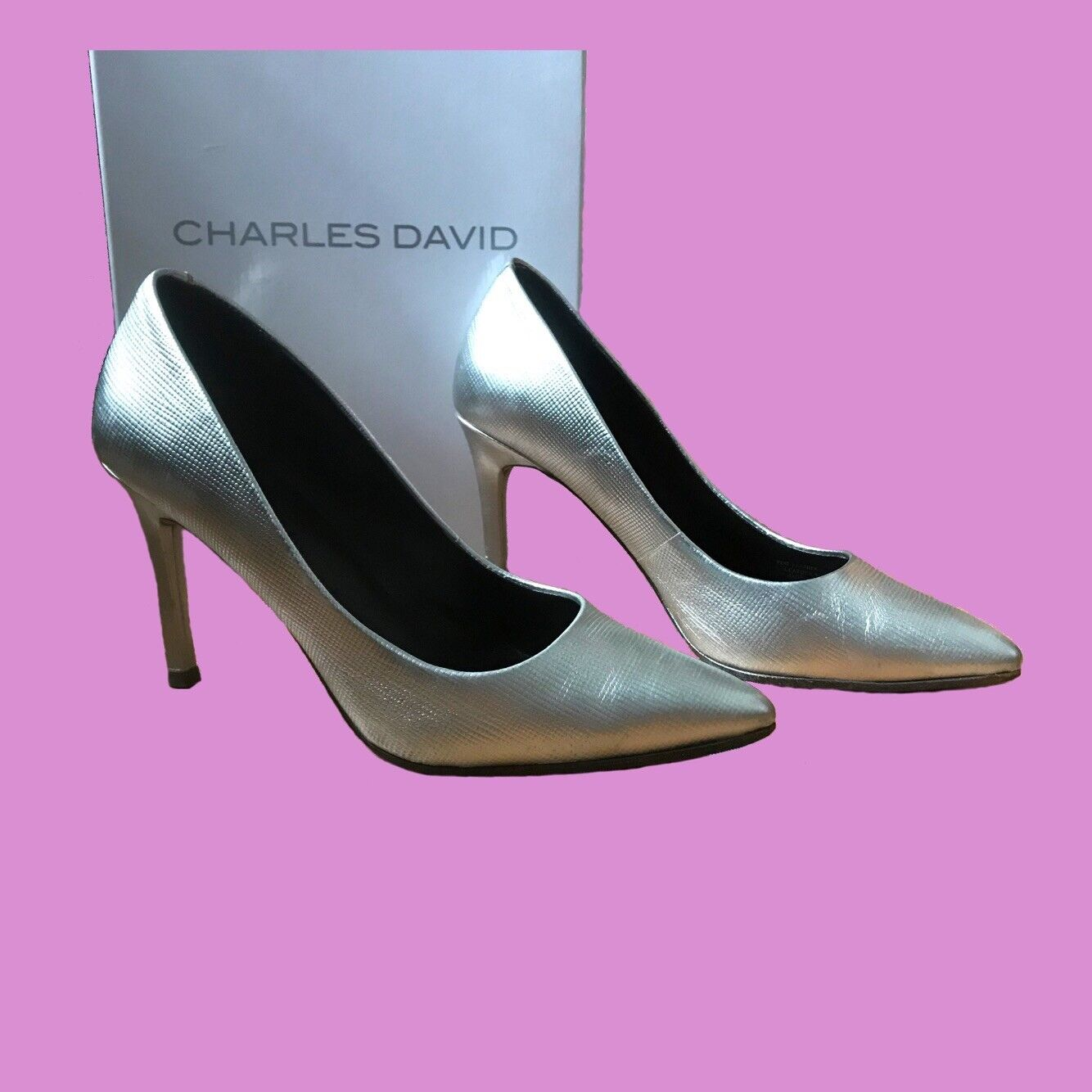 Sz 6.5 Charles David Silber Silber David Pumps 5176c6