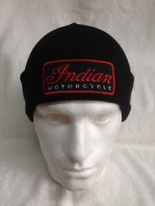 9d7fb5ebc8f Image is loading Indian-Motorcycles-Woolly-Turn-Up-Hats-Beanies-Baseball-