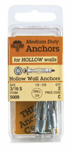 HILLMAN-3-16-in-Dia-x-2-1-4-in-L-Metal-Hollow-Wall-Anchors-2-pk-Round-Head