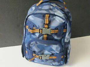 Pottery Barn Preschool Backpack Blue Shark Camo Ebay