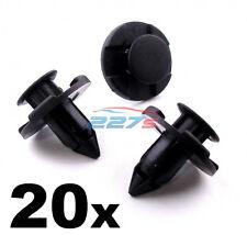 20x Nissan Bumper Clips- 8mm Plastic Trim Clips for Micra, Almera XTrail Juke...