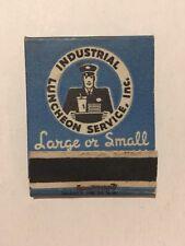 Rare Matchbook ?Industrial Luncheon Service, INC? ~Bill Rosenberg ~Dunkin Donuts