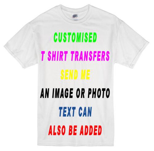FERRO Personalizzati su trasferimento inviare qualsiasi immagine foto o testo per creare T Shirts