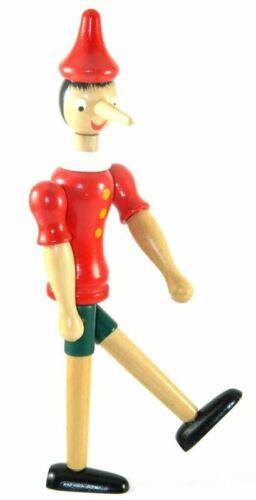 """10/"""" New Pinocchio Toy Figure Doll Wood Italy Articulate Puppet MY-2267"""