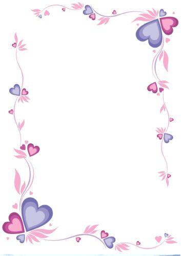 100g//qm verliebt 20 Blatt Briefpapier Motivpapier mit Herz-Motiv NEU Liebe