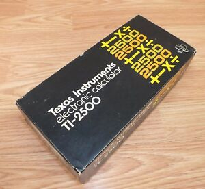FOR-PARTS-Vintage-Texas-Instruments-TI-2500-Electronic-Calculator-in-Box