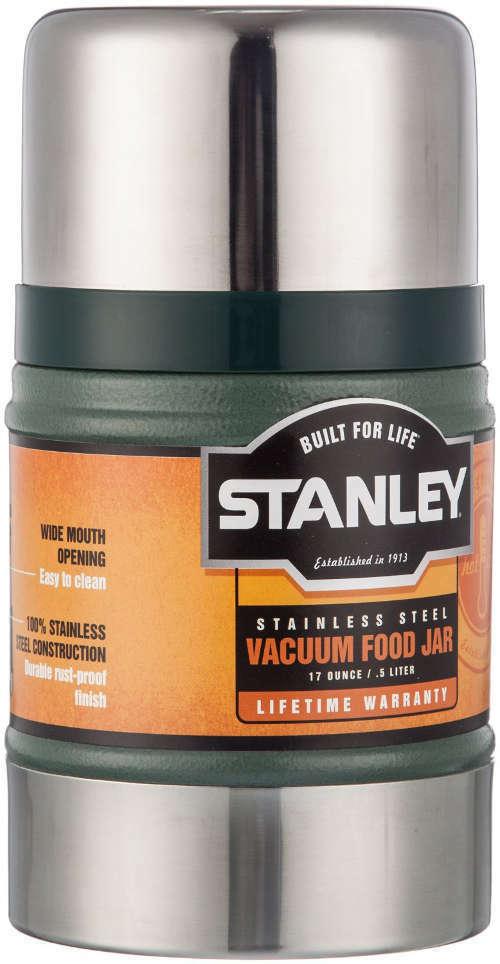 STANLEY Grün 0,5 LITRE FOOD JAR FLASK STEEL unzerbrechlich stark retro camping