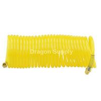 25ft X 1/4 Recoil Air Hose Coil Spring End Pneumatic Compressor 200psi